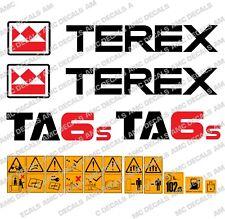 TEREX TA6s DUMPER DECALS