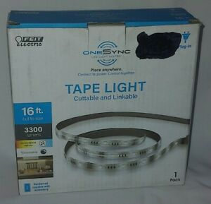 16' Dimmable Multi-White Indoor Outdoor Smart LED Strip Tape Light #546