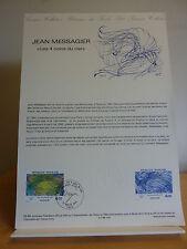 M* Premier jour * Fiche Musée postal * Jean Messagier les 4 coins du ciel * 1984