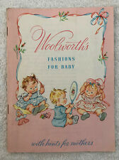 Vintage Woolworths Fashion For Baby Pamphlet Buster Brown Ad 1956
