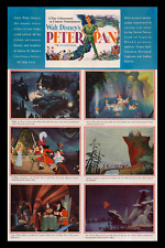 1952 PETER PAN ROLLED DISNEY TRANSIT 1-SH MOVIE POSTER ADVANCE ☆ ONLY KNOWN ORIG
