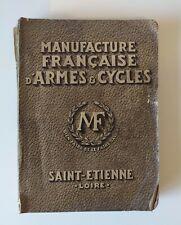 Catalogue MANUFRANCE 1938 - Manufacture Francaise Armes & Cycles Ancien
