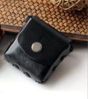 Men purse Bag belt Waist fanny Pack wallet pocket Cow Leather Pouch coffee 846