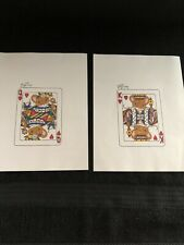 2 Charming Tails Signed Dean Griff Print Picture Queen Of Hearts,King Of Hearts