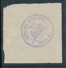 AUSTRALIA PERTH ABORIGINES DEPARTMENT OFFICIAL HANDSTAMP FRANK