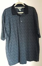 CUTTER & BUCK Blue and Grey Polo 3 Button Shirt Size Large