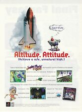 Original 1996 JUMPING FLASH 2 PlayStation video game print ad page advertisement