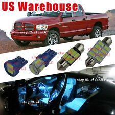 14x Aqua Blue Light Interior LED Package Kit For 02-11 Dodge Ram 1500 2500 3500