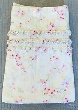 Simply Shabby Chic Shower Curtain Cherry Blossom Pink Ruffle 100% Cotton Perfect