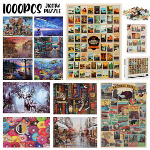 1000 Piece Jigsaw Puzzle Adult Kids Games Animal World Scenery Home Gift 70 x 50