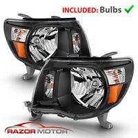 For 2005-2011 Toyota Tacoma TRD Style Black Headlights 2006 2007 2008 2009 2010