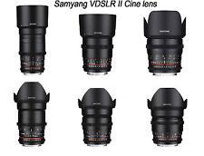 Samyang VDSLR II Cine lens kit for Canon -135.85.50.35.24.16mm -6pcs