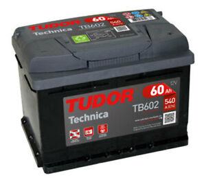 Batería Tudor TB602 - 60Ah 12V 520A. 242x175x175