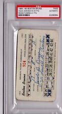 1964-65 Boston Bruins Season PSA Ticket Wayne Cashmen Debut/ John Bucyk 55 PT/HO