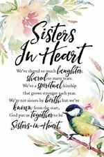 "NEW Dexsa Sisters In Heart 6"" x 9"" Wood Plaque with Easel DX5041"