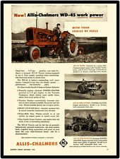 "Allis Chalmers 2-Cycle Diesel Tractors Marquee New Metal Sign 6/"" x 18/"""