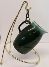 """Vintage Hull Green/Teal Drip Pottery Pitcher~Made Usa~Oven Proof 7"""" Tall~Rare!"""