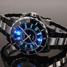 Reloj de Pulsera Ohsen Hombre 7 Luz De Fondo LED Acero Inoxidable Cuarzo Deporte Impermeable