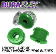 E46 Front Wishbone Rear Bushes in Green Duraflex Polyurethane