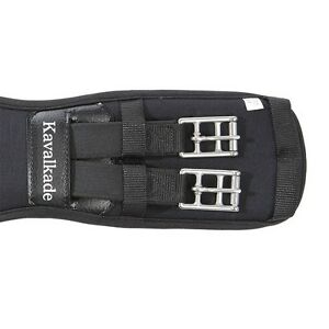 """Kavalkade """"memory"""" Short Girth with two-sided elasticated Inserts - Black"""