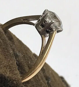 18ct Gold Solitaire Ring Size L 2.27g