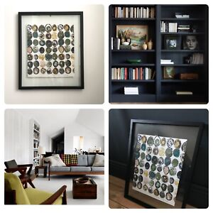 Mid Century Original Framed Art RARE Heals Ducatoon 1959 Fabric by Lucienne Day