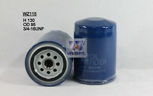 6x WZ115 Wesfil Oil Filters - PACK OF SIX for Datsun, Ford, Nissan equiv Z115