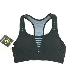 Champion C9 Womens Sports Bra XS Medium Support Cutout Black