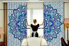 Indian Luxury Ombre Mandala Home Door Window Curtain Drape Panel Scarf Divider