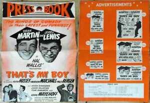 Pressbook  Paramount DEAN MARTIN & JERRY LEWIS: That´s My Boy  UK 1951