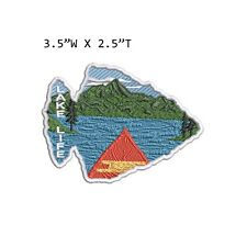 New ListingLake Life Mountain Forest Embroidered Patch Iron-on / Sew-on Nature Applique