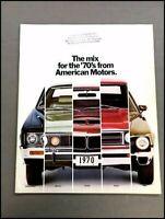 1970 AMC Sales Brochure Catalog - Rebel Machine AMX Javelin Hornet Ambassador