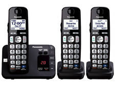 Panasonic KX-TGE233B DECT 6.0 Plus Cordless Phone w/ answering machine - Black