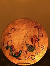 New Home Decorative Plate Vitray Art Hand painted Craft Antique Style Glass