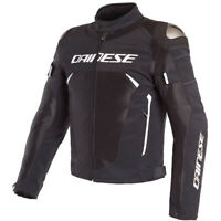 Dainese Men's Dinamica Air D-Dry Motorcycle Jacket Black White Size 50 EU
