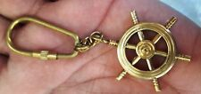 Brass Boat Steering Shape Key Chain Brass Ship Handle Key Ring Free Ship BM-523