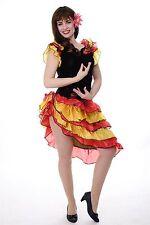 DRESS ME UP - Kostüm Damen Tango Tangotänzerin Carmen Kleid Bolero Gr. S/M L214