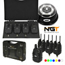 NGT WIRELESS BITE ALARM SET 3+1 WITH RECEIVER BIVVY LIGHT CONNECTS TO ALARMS