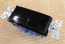 Cooper 2 Switch Decorator Single Pole Switch 7728BK-BOX in Black