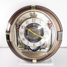 Seiko QXM111GRH Hi Fi 7 Sound Melodies in Motion Beatles Musical Wall Clock Song