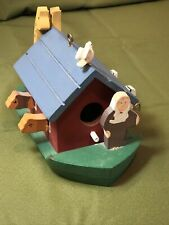 Midwest Imports Wooden Hand Crafted & Hand Painted Noah's Ark Boat-Bird House Po