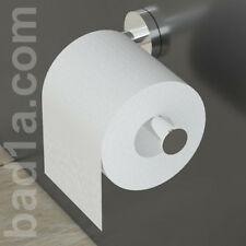 Toilettenpapierhalter ohne Deckel Messing verchromt / Badzubehör Papierhalter