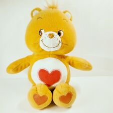 "Care Bears Tenderheart Plush 11"" Bear Red Heart Play Along Orange 2002"