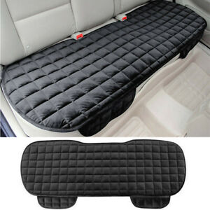 Black Rear Row Seat Cover Chair Cushion Sponge Universal Fit For 5-Seat Cars