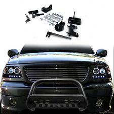 """09-16 Dodge Ram 1500 3"""" SS Push Bumper Bull Bar Grill Guard Skid Plate Black"""