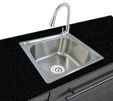 lavello da cucina 1 vasca in acciaio inox 304 da incasso 46 cm x 41 cm angolare