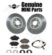 Set of 2 Front Disc Brake Rotors & Pads & Sensor OES for Mini Cooper R55 R56 R57