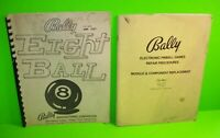Eight Ball ORIGINAL Bally Pinball Machine Game Manual + Electronic Repair Manual
