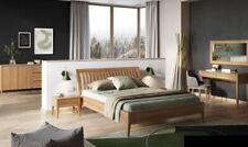 Bett Schlafzimmer Doppel Betten 3tlg. Set 2x Nachttische Massivholz Echtes Holz