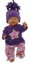 Puppenkleidung passend für Baby Born ChouChou Kleidung  43 cm lila 49